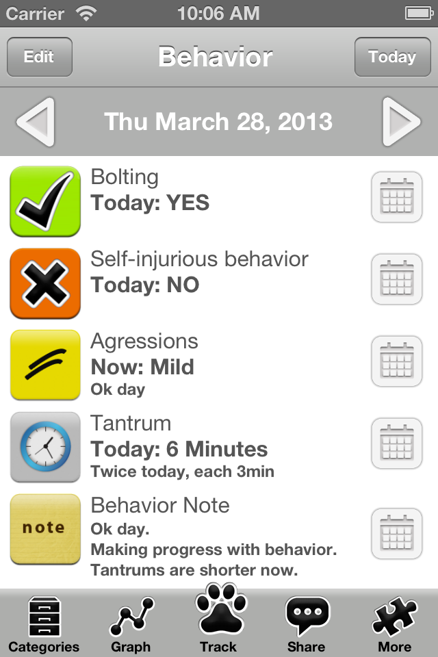 Autism Tracker Pro (Track Analyze Share ASD Daily) - Educational App